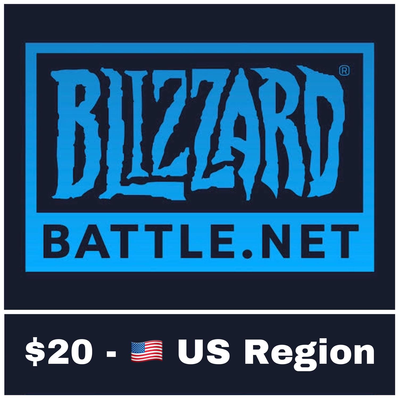 Battle.net Gift Card US $20 Blizzard Balance