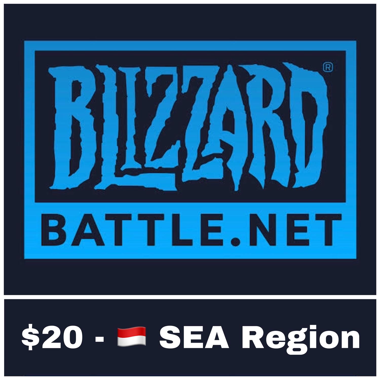 Battle.net Gift Card SEA $20 Blizzard Balance