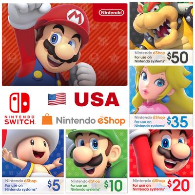 Nintendo eShop Card US $5 $10 $20 $35 $50