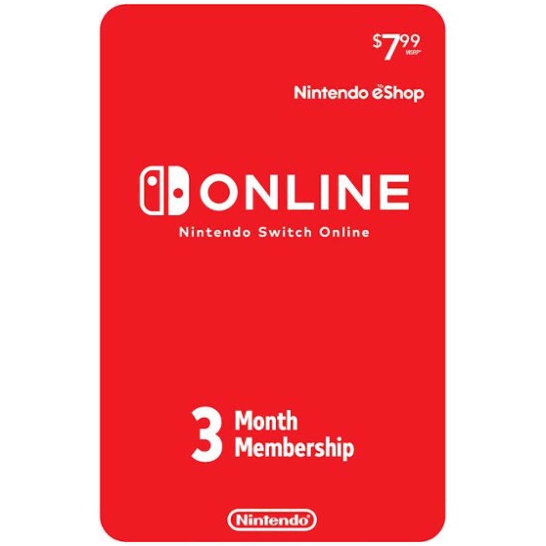 Nintendo Switch Online 3-Month Individual Membership Card US