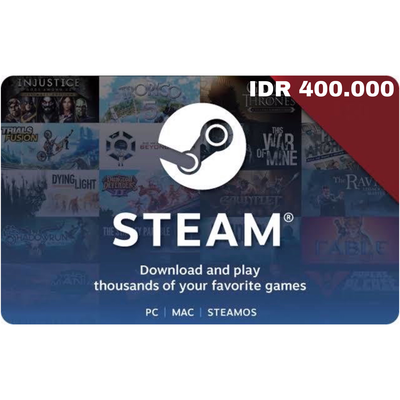 Steam Wallet IDR 400000 Indonesia