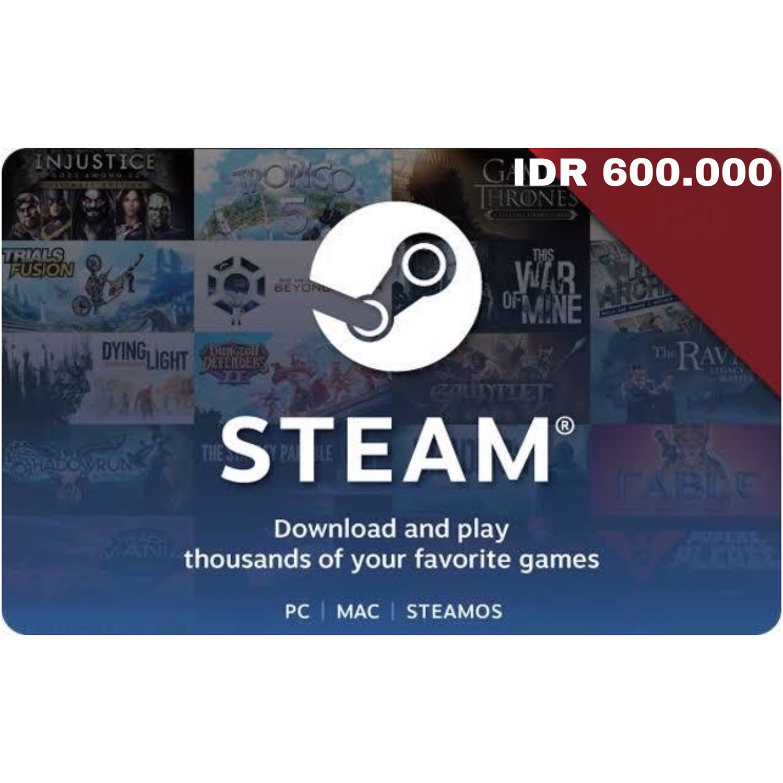 Steam Wallet Code Indonesia 600ribu