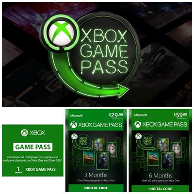 Xbox Game Pass - 1, 3, 6 Months Membership