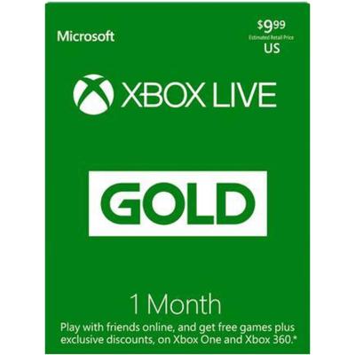 Xbox live 1 month gold membership (US region)