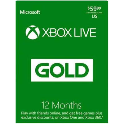 Xbox live 12 months gold membership (US region)