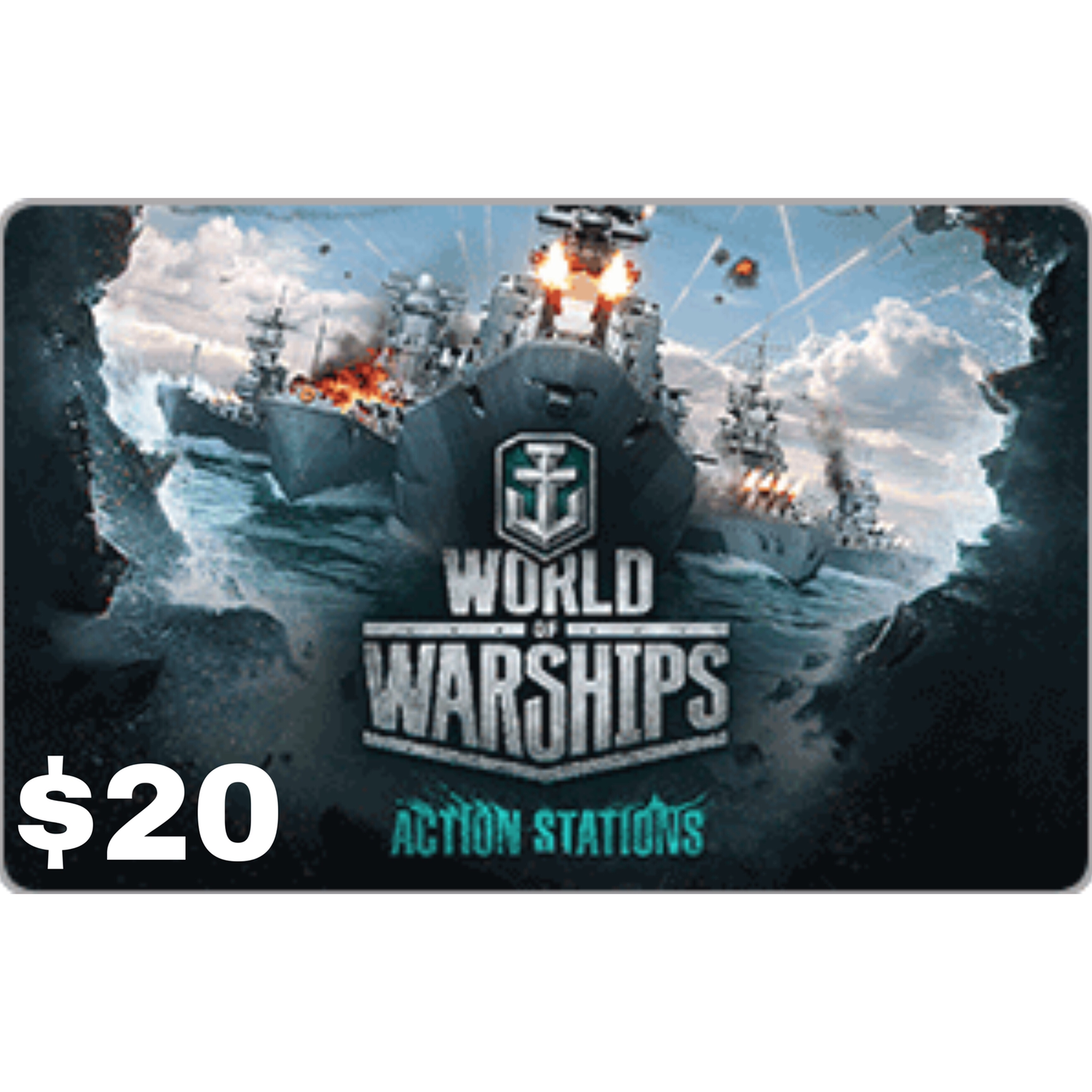 Wargaming World of Warships $20 Gift Card [Digital Code]