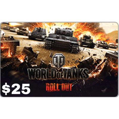Wargaming World of Tanks $25 Gift Card [Digital Code]