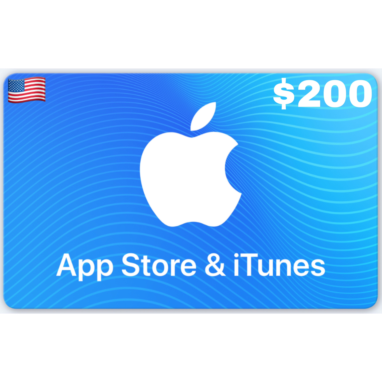 Apple App Store & iTunes Gift Cards US $200