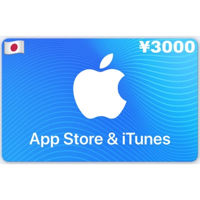 Apple App Store & iTunes Gift Card Japan ¥3000