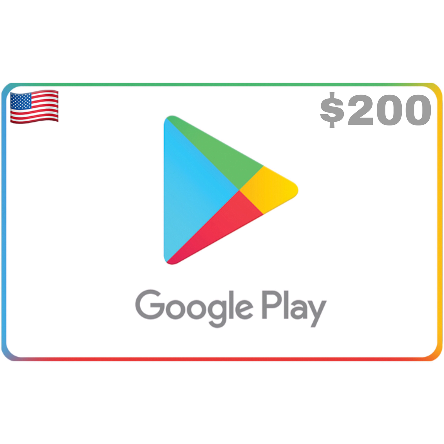 Google Play Gift Card US $200