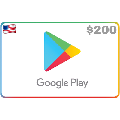 Google Play Gift Card US $200