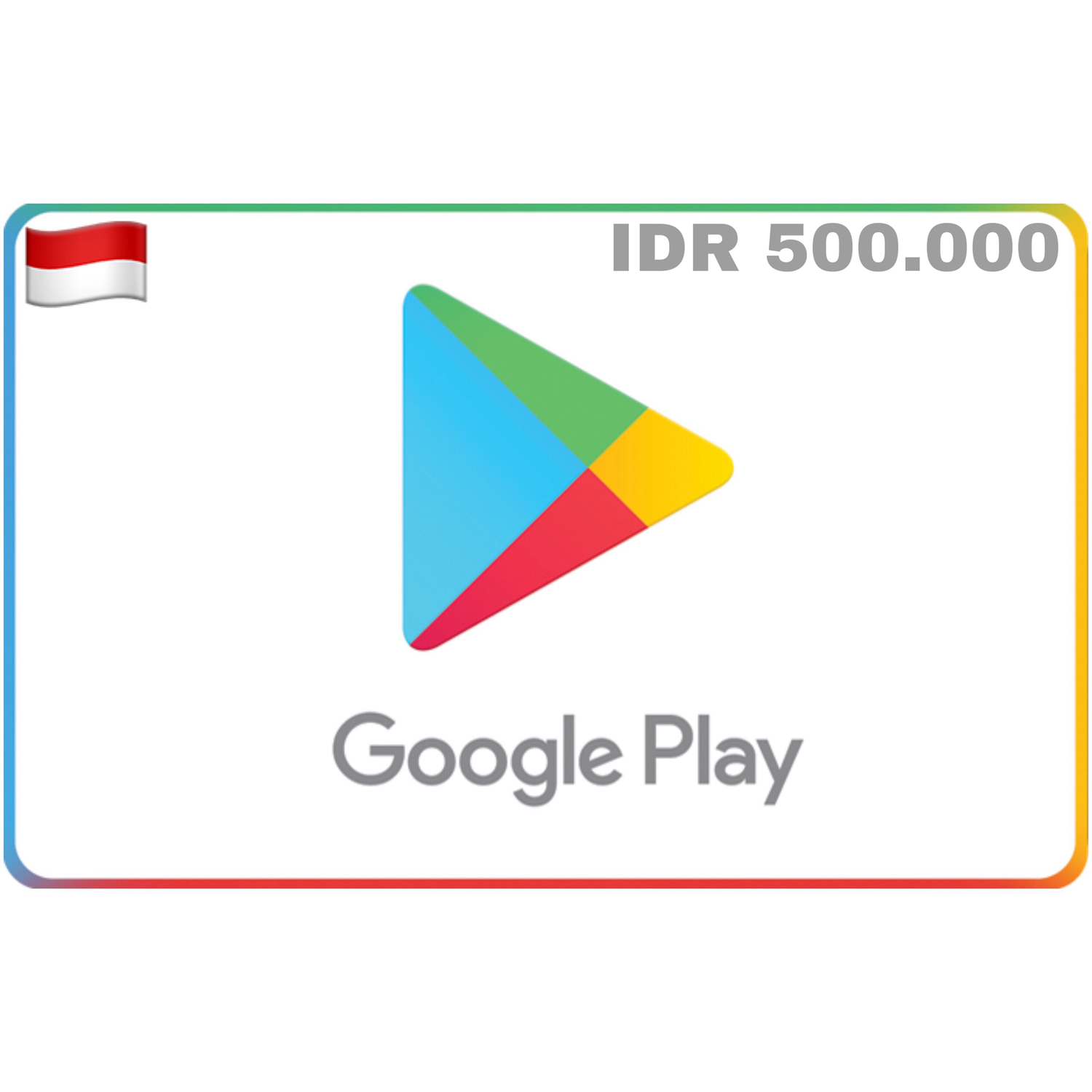 Google Play Gift Card Indonesia 500.000
