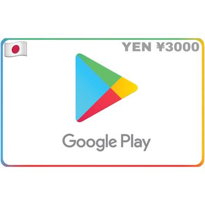 Google Play Gift Card Japan ¥3000