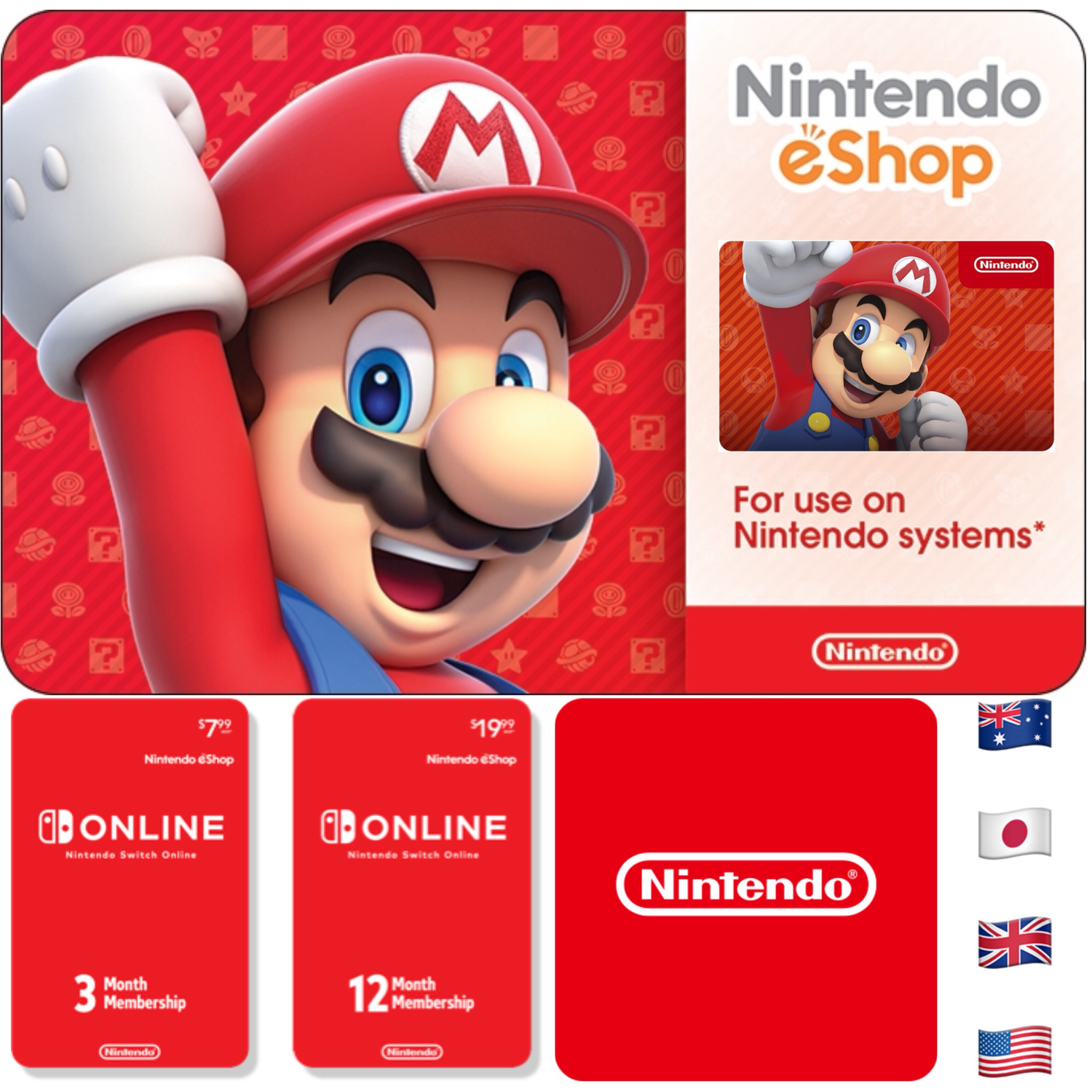 Nintendo eShop Prepaid Gift Cards - Switch / Wii U / 3DS