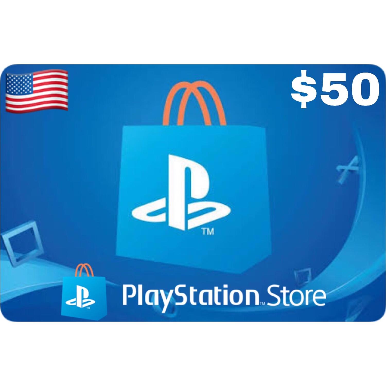 PSN Card - Playstation Network US $50