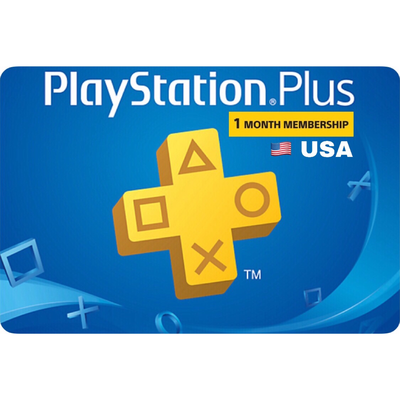 PSN Plus Card - Playstation Plus US 1 Month Membership