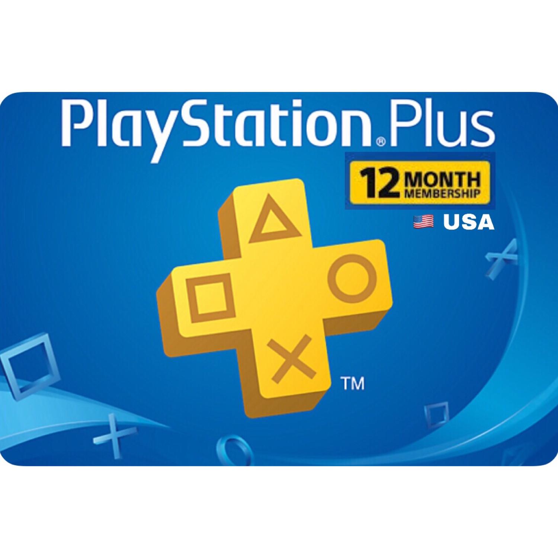 PSN Plus Card - Playstation Plus US 12 Months Membership