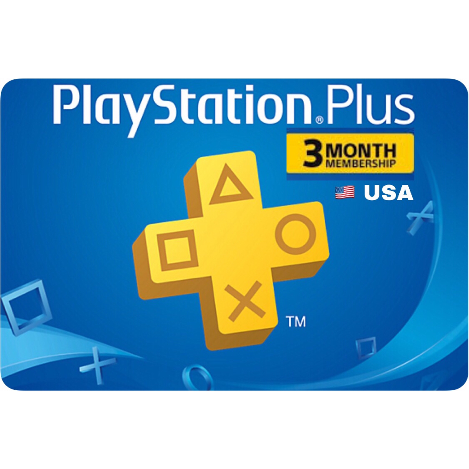 PSN Plus Card - Playstation Plus US 3 Months Membership