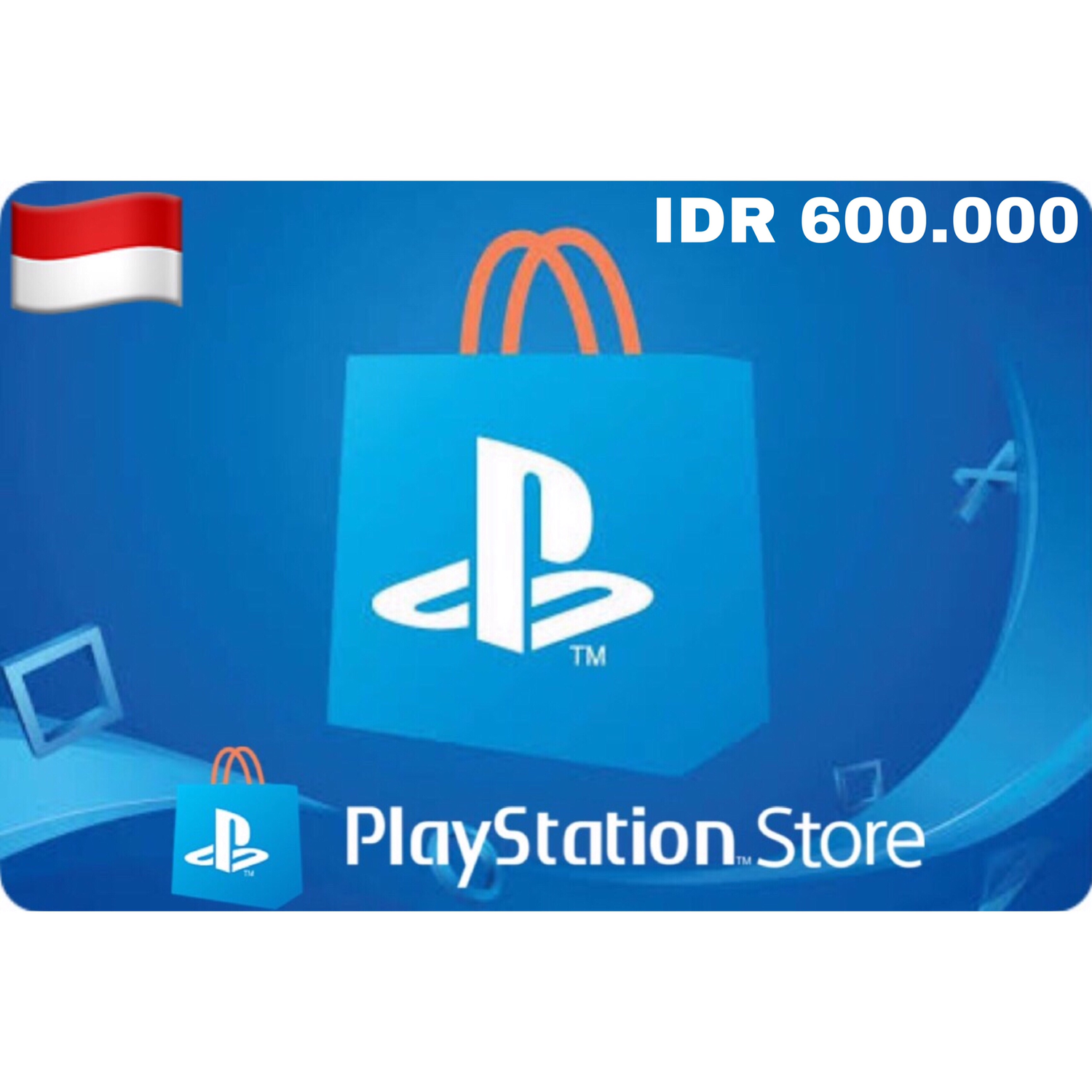 PSN Card - Playstation Network Indonesia/Asia IDR 600.000