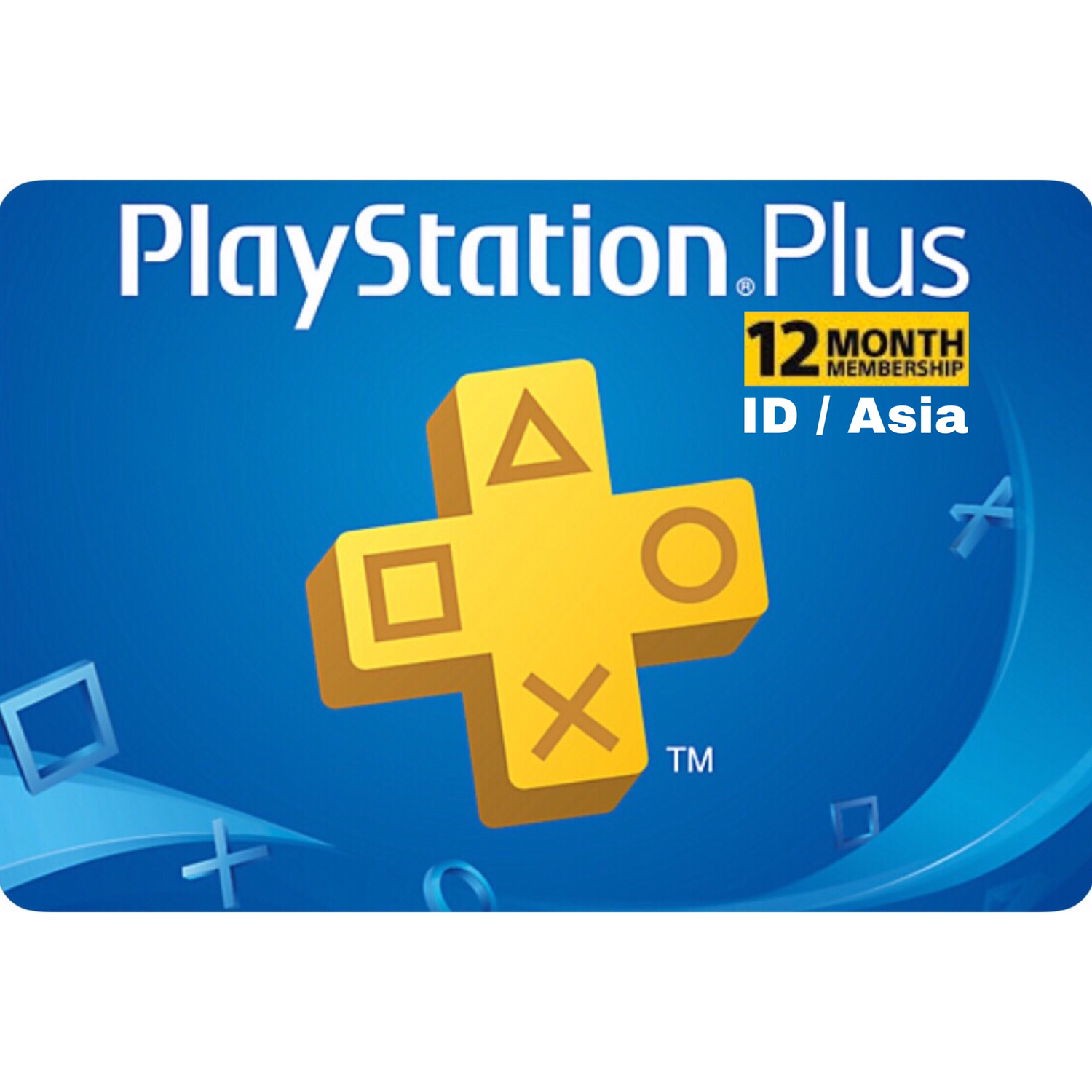 PSN Plus Card - Playstation Plus Indonesia / Asia 12 Months Membership