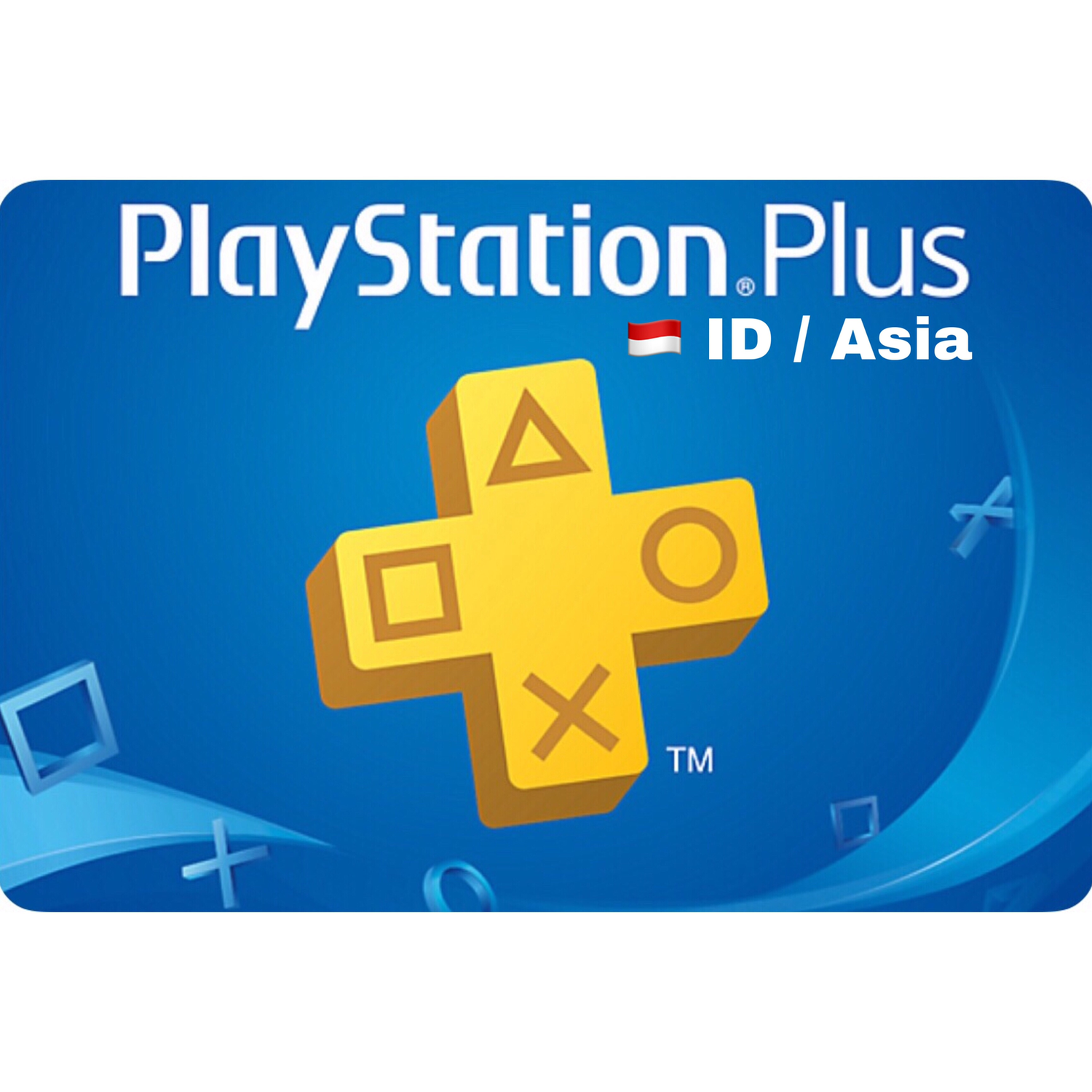 PSN Plus Cards - Playstation Plus Indonesia / Asia 3 ,12 Months Membership