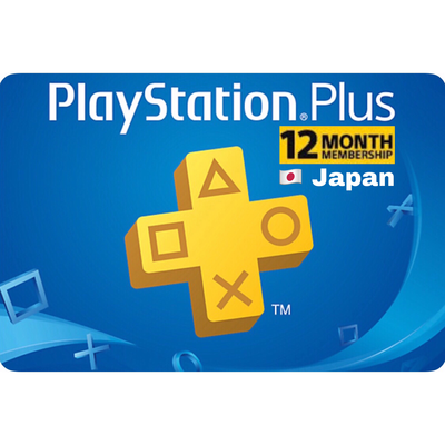 PSN Plus Card - Playstation Plus Japan 12 Months Membership