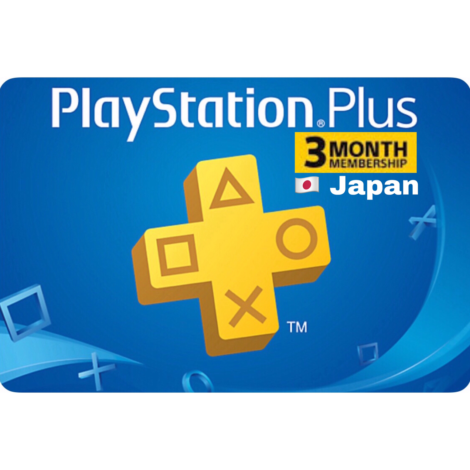 PSN Plus Card - Playstation Plus Japan 3 Months Membership