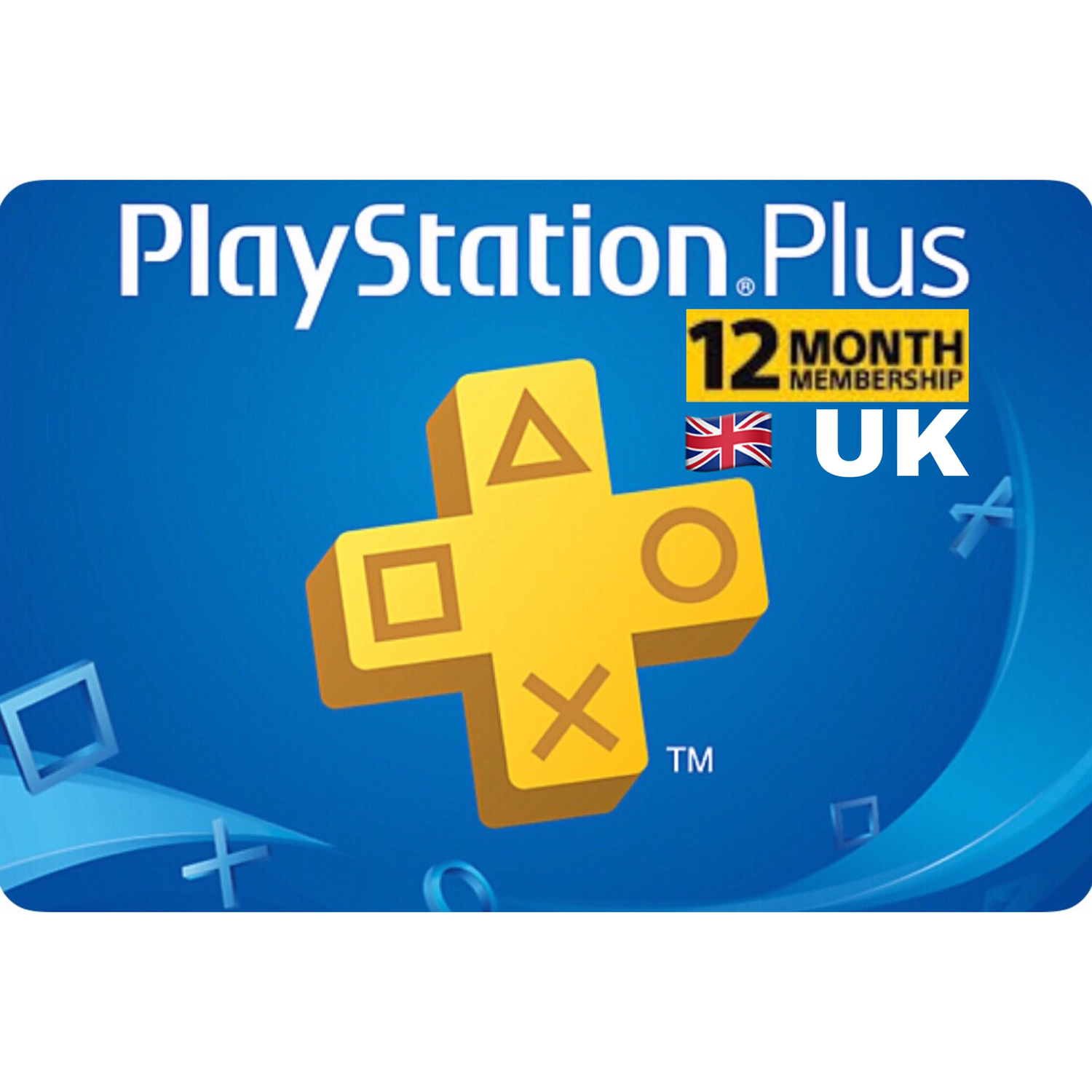 PSN Plus Card - Playstation Plus UK 12 Months Membership