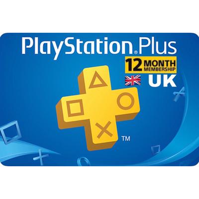 PSN Plus Card - Playstation Plus UK 12 Months Membership