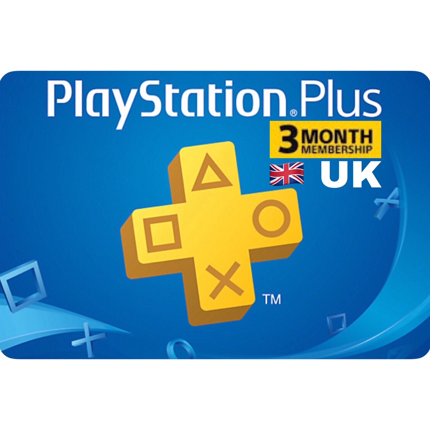 PSN Plus Card - Playstation Plus UK 3 Months Membership