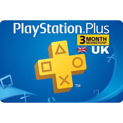 PSN Plus Card - Playstation Plus UK 3 Months Membership
