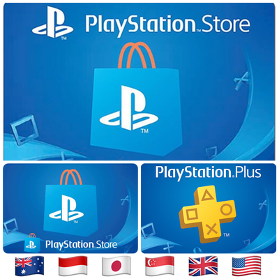 PSN Cards - Playstation Network - Playstation Store Gift Card, Playstation Plus