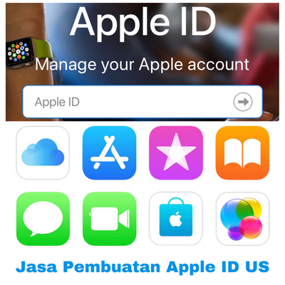 Jasa Pembuatan Apple ID US dengan saldo $100
