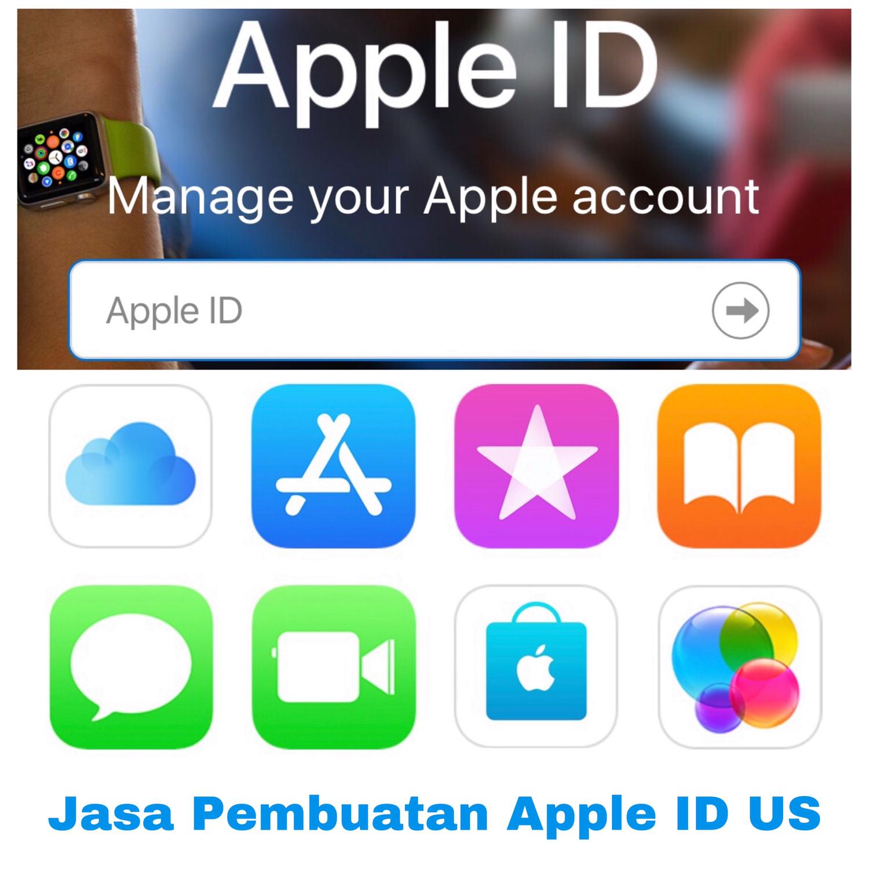 Jasa Pembuatan Apple ID US tanpa saldo