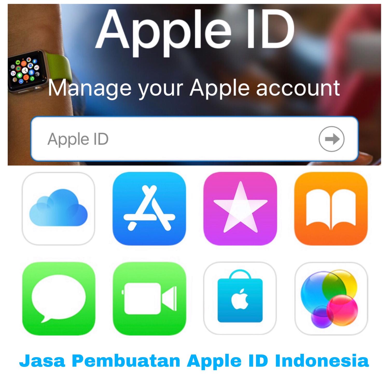 Jasa Pembuatan Apple ID Indonesia dengan saldo 1juta