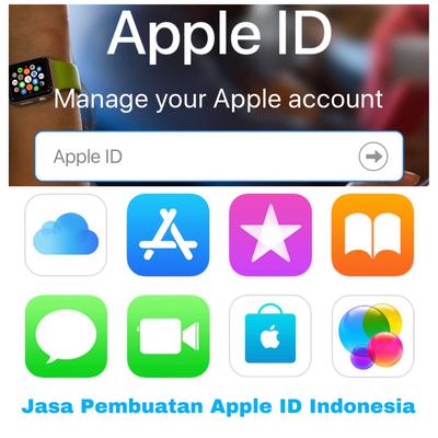 Jasa Pembuatan Apple ID Indonesia dengan saldo 300ribu