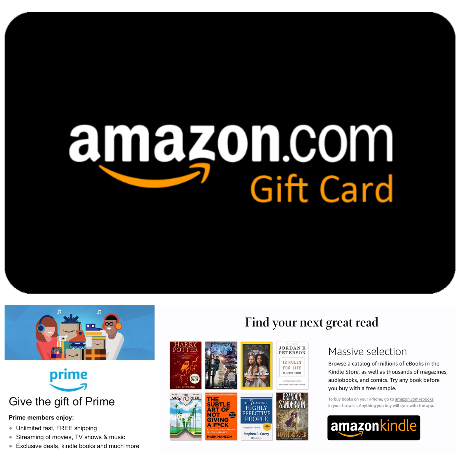 Amazon Gift Card US, Amazon Prime
