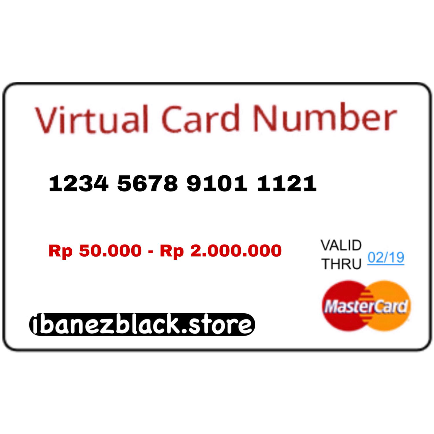 VCC (Virtual Credit Card) Apple ID Indonesia 50.000 - 2.000.000