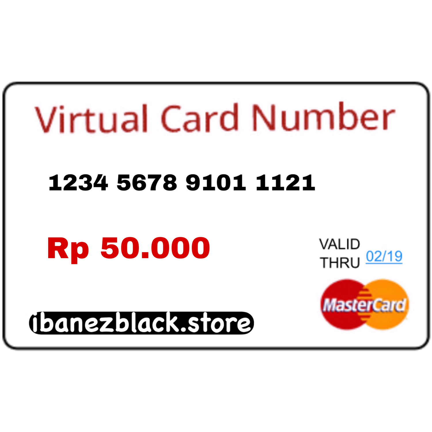 VCC (Virtual Credit Card) Apple ID Indonesia 50.000
