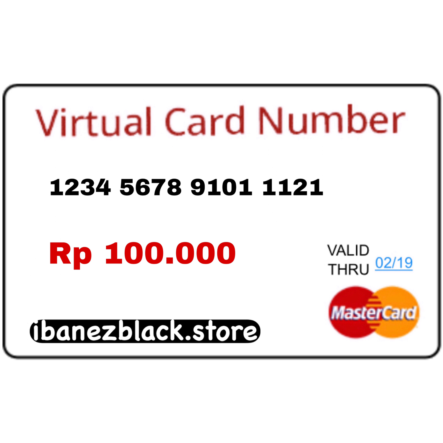 VCC (Virtual Credit Card) Apple ID Indonesia 100.000