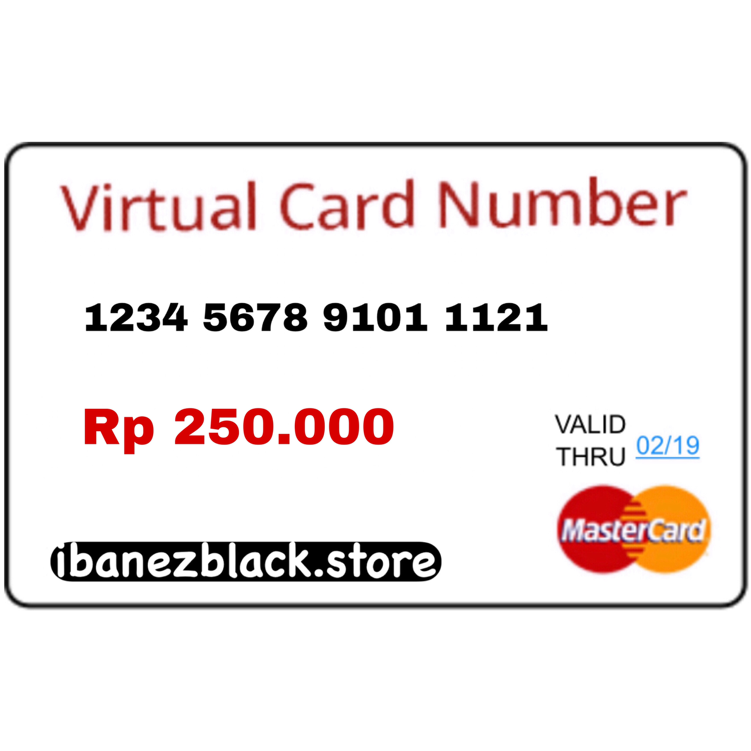 VCC (Virtual Credit Card) Apple ID Indonesia 250.000