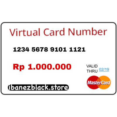 VCC (Virtual Credit Card) Apple ID Indonesia 1.000.000