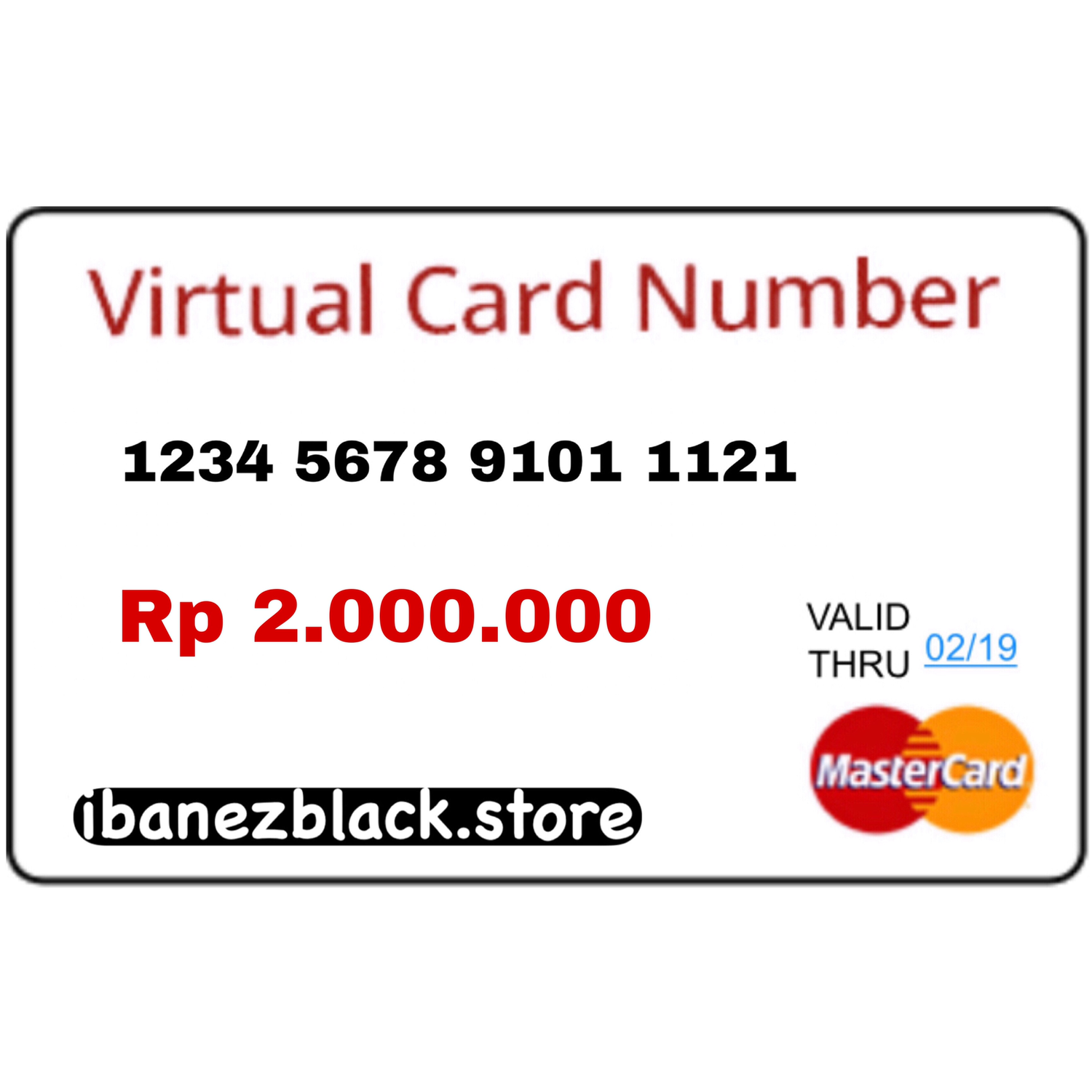 VCC (Virtual Credit Card) Apple ID Indonesia 2.000.000