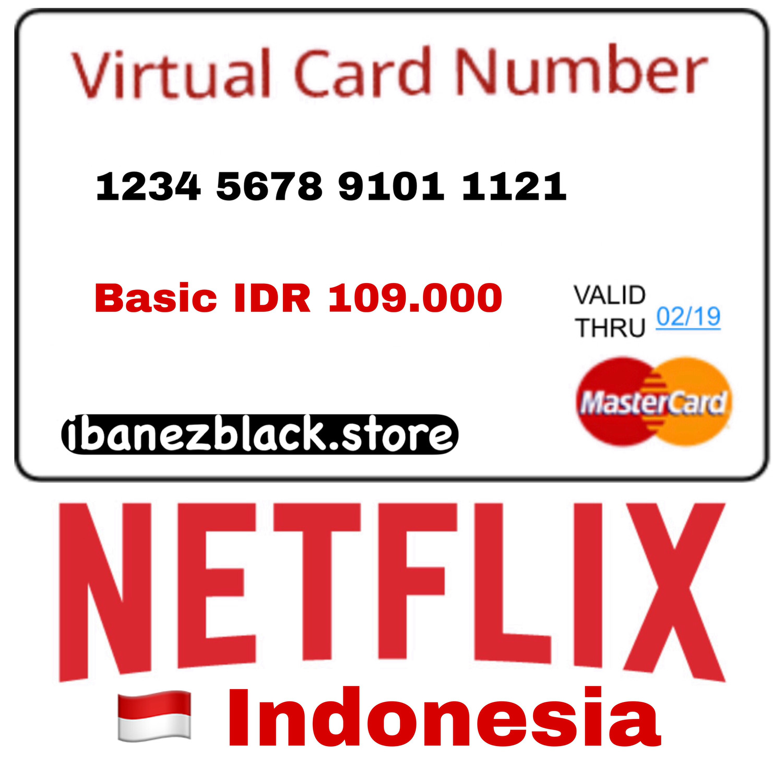 VCC (Virtual Credit Card) Netflix Indonesia - Basic IDR 109.000