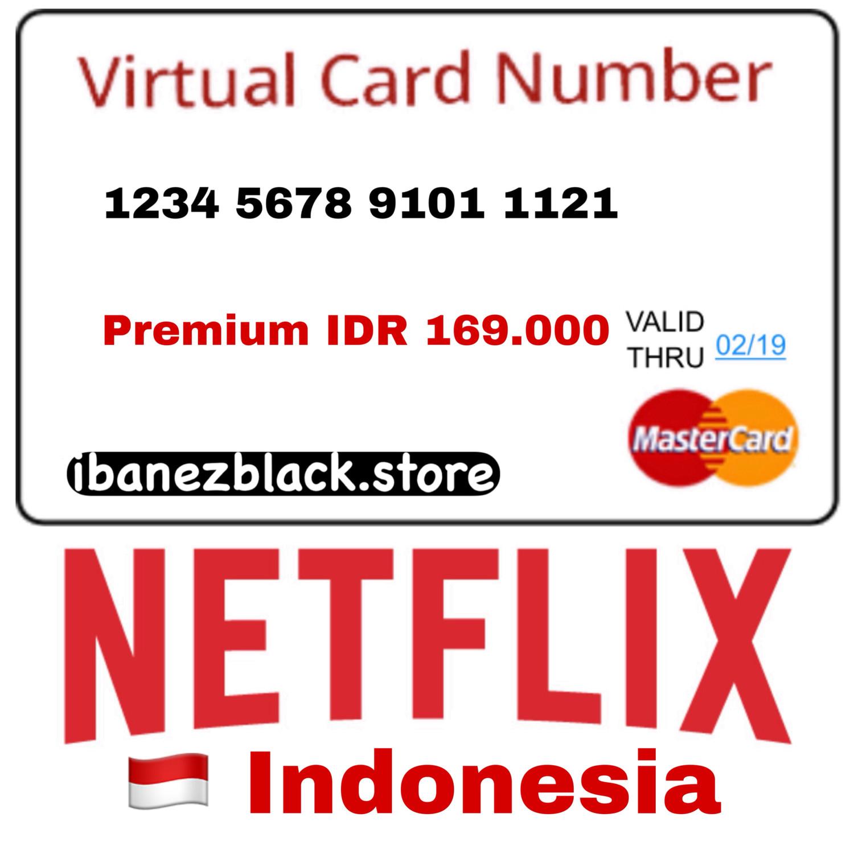 VCC (Virtual Credit Card) Netflix Indonesia - Premium IDR 169.000