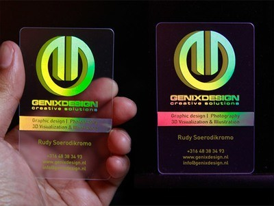 Double Sided Business Card Design