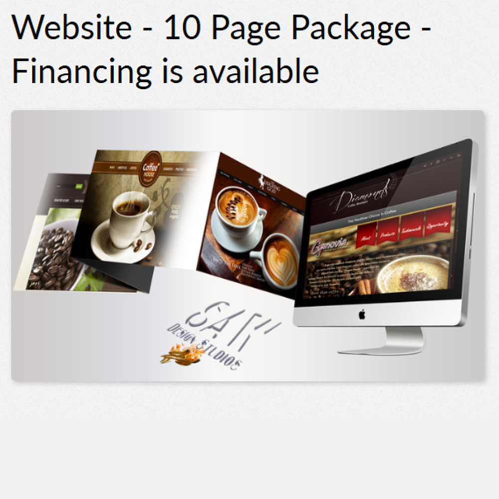 10 Page Website - Fully RESPONSIVE