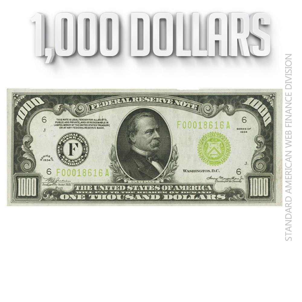 1,000 Dollars