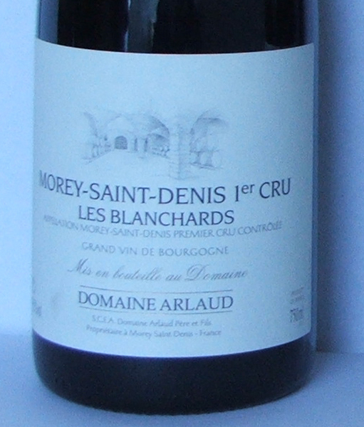 Domain Arlaud Les Blanchards 1er Cru 2004 003