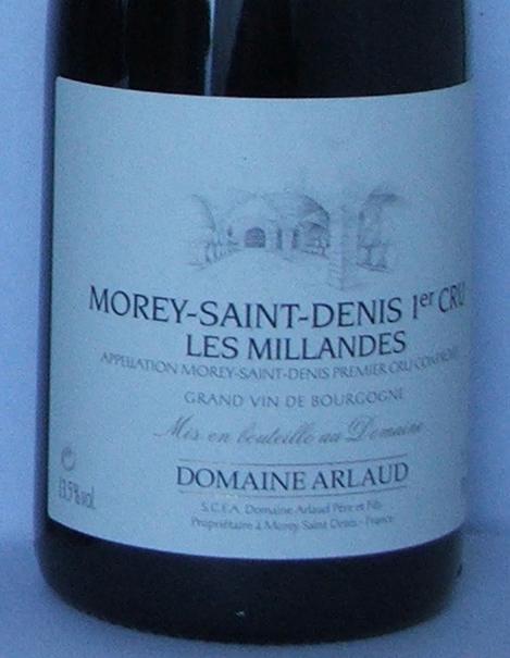 Domain Arlaud Les Millandes 1er Cru 2004 004